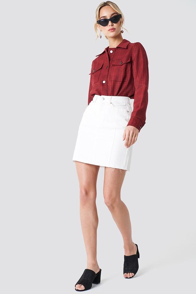 Panel Skirt White