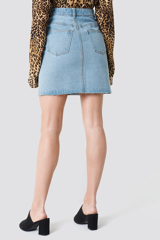 Panel Skirt Light Blue