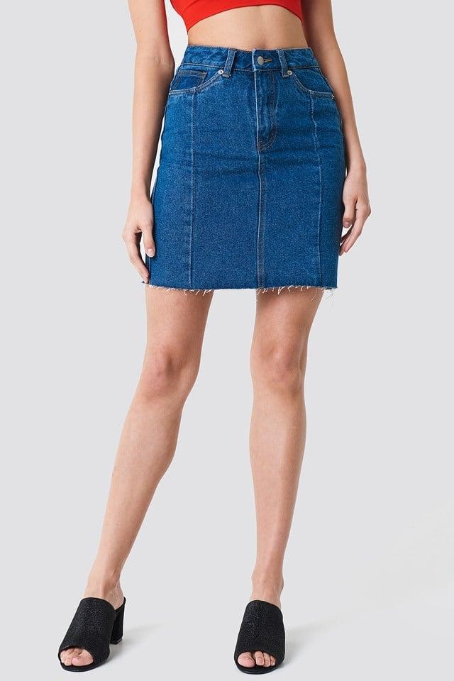 Panel Skirt Mid Blue