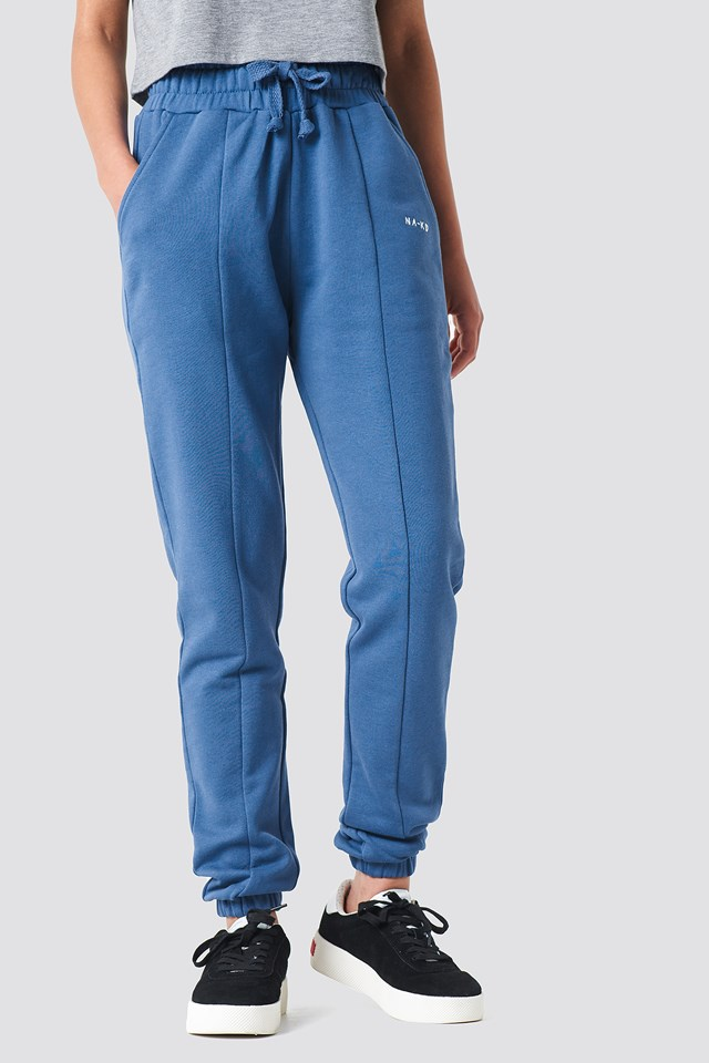Panel Sweatpants Dark Dusty Blue
