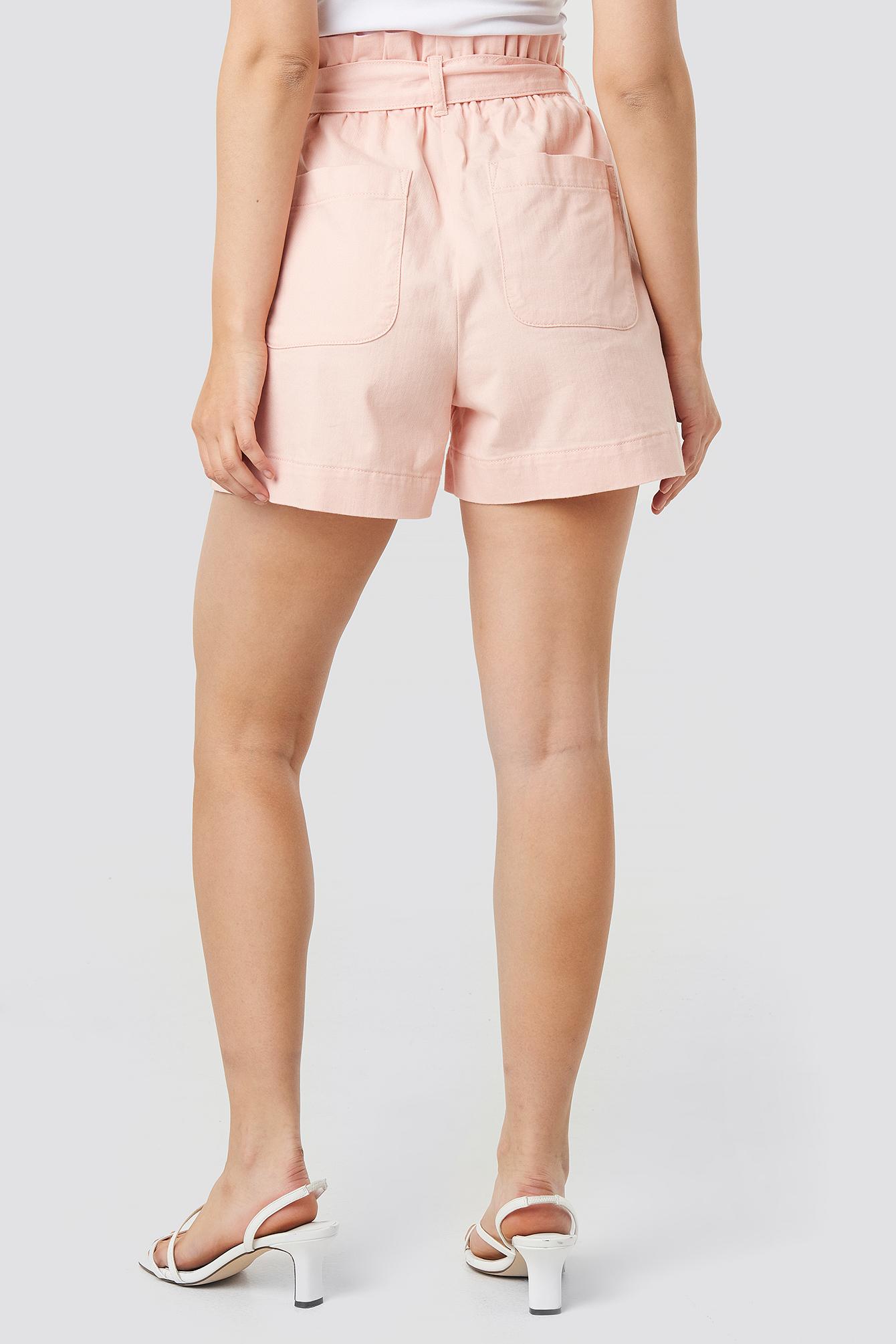 Paper Bag Cotton Shorts NA-KD.COM