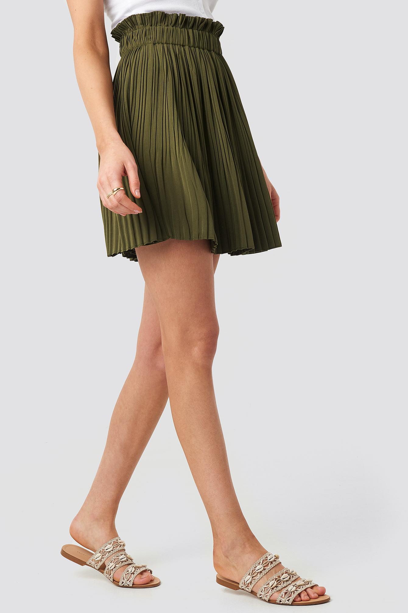 Paper Waist Mini Skirt NA-KD.COM