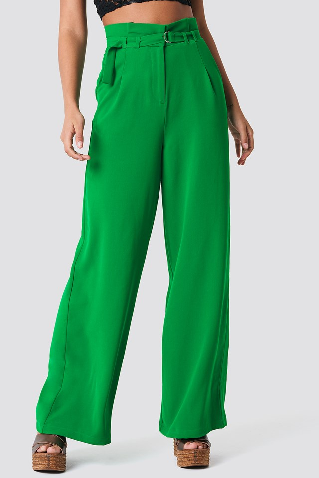 Paperbag Waist Wide Pants NA-KD.COM