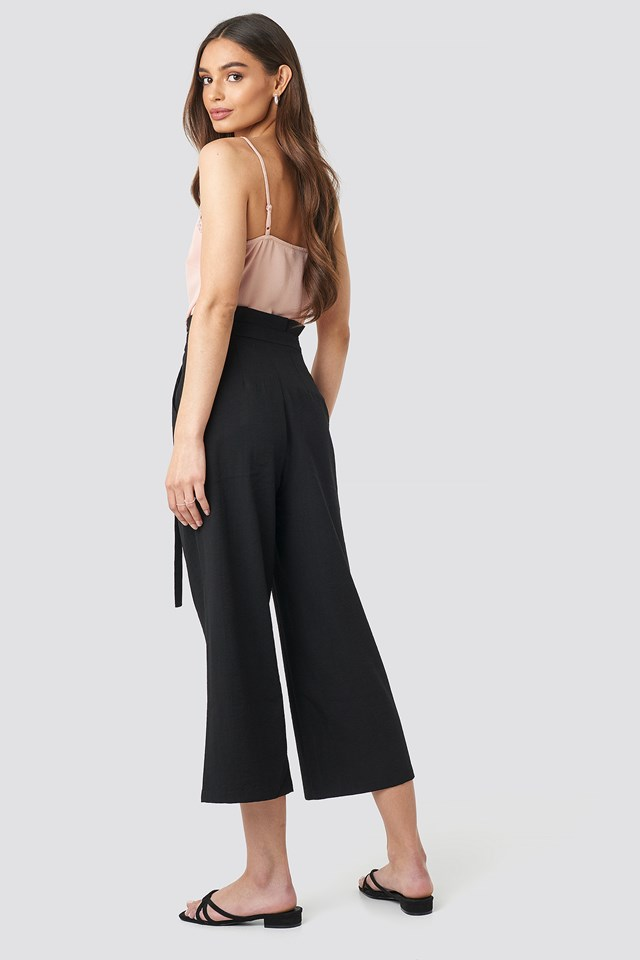Paperwaist Self-Tie Pant Black