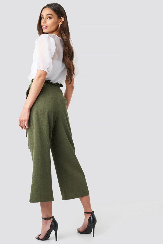 Paperwaist Self-Tie Pant Khaki