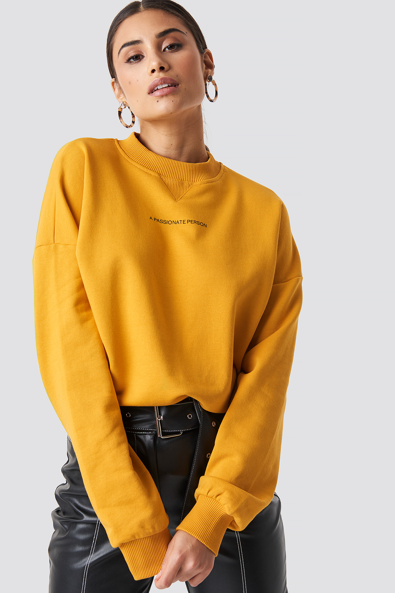 na-kd trend -  Passionate Sweatshirt - Orange,Yellow