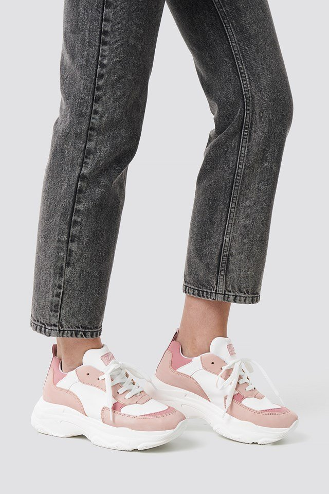 Pastel Chunky Trainers Pastel Pink