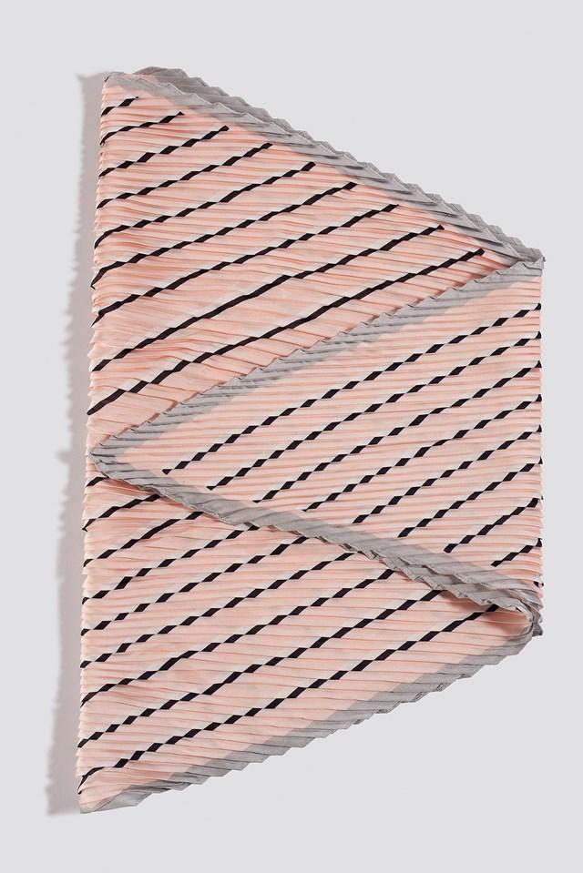 Pastel Textured Scarf Pink