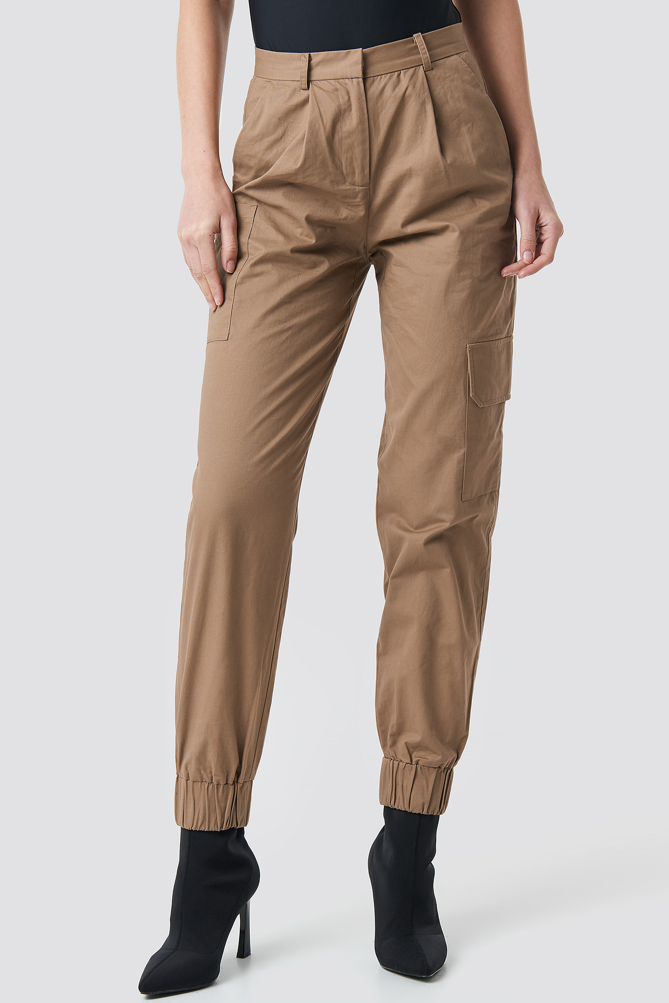 Patch Pocket Cuff Detail Pants NA-KD.COM