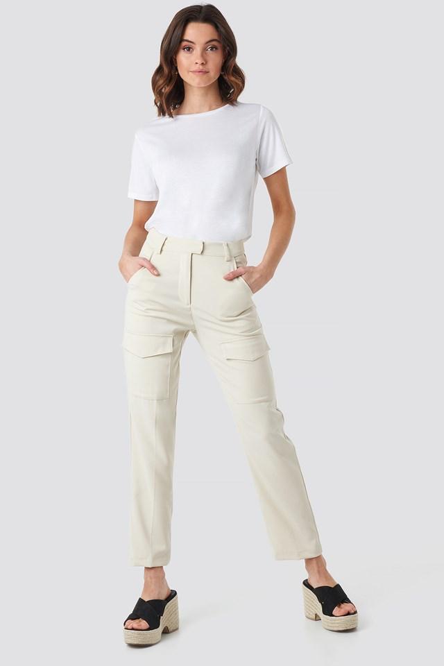 Patch Pocket Straight Pants NA-KD.COM
