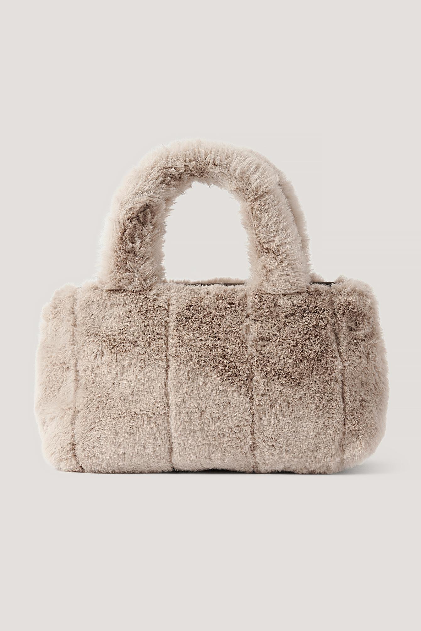 na-kd accessories -  Flauschige Patch-Handtasche - Grey
