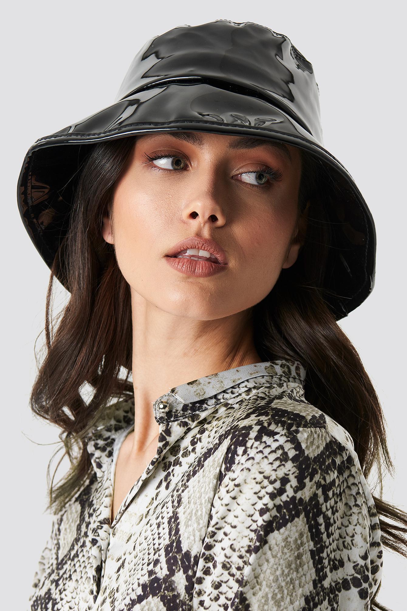 na-kd accessories -  Patent Bucket Hat - Black