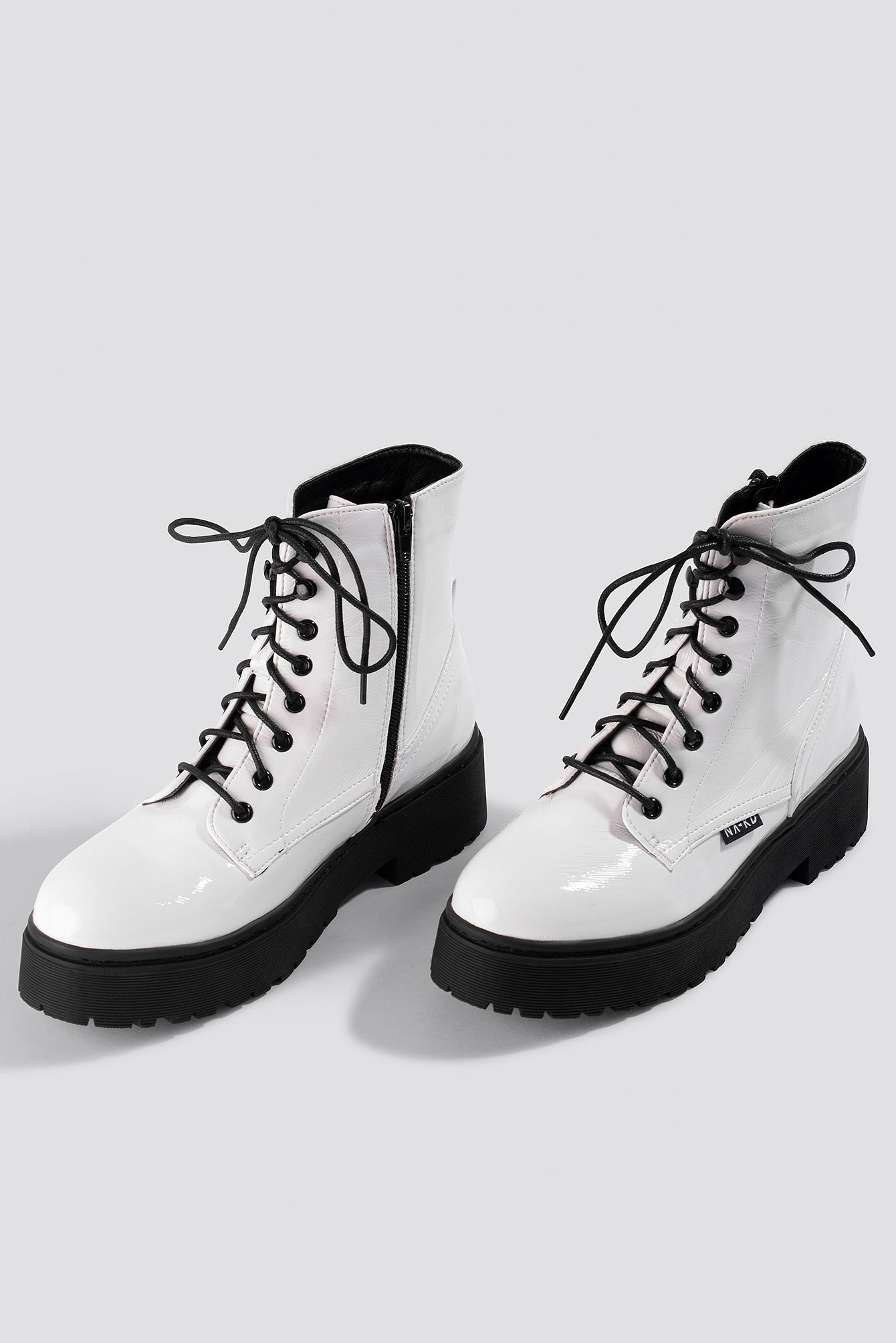 Patent Combat Boots NA-KD.COM