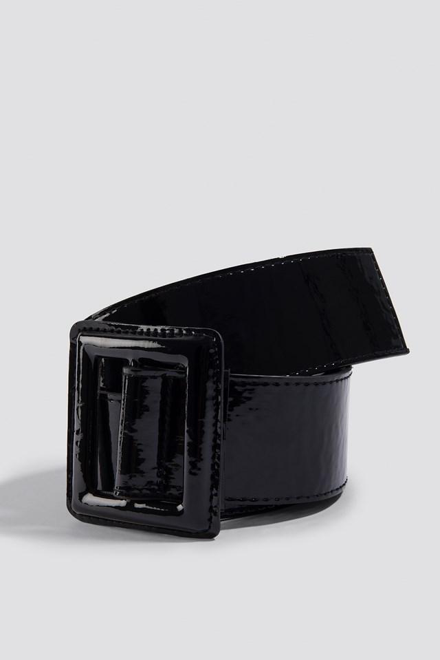 Patent Waist Belt Black