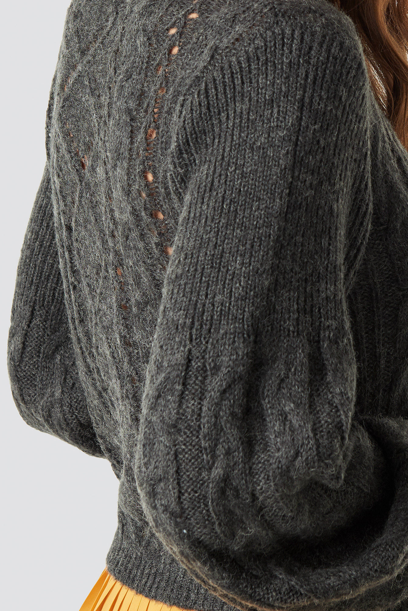 Pattern Knitted Short Sweater NA-KD.COM