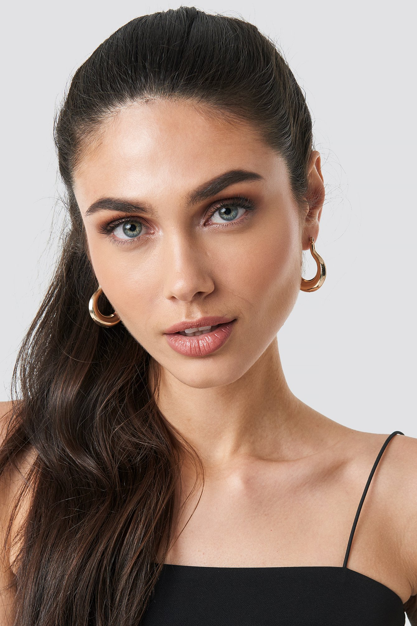 na-kd accessories -  Pear Shaped Thick Hoops - Gold