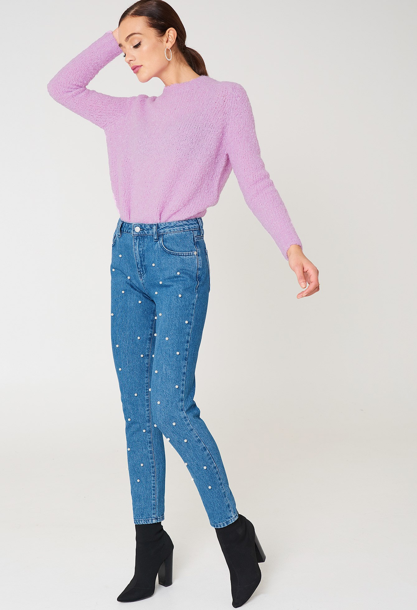 Pearl Denim Pants NA-KD.COM