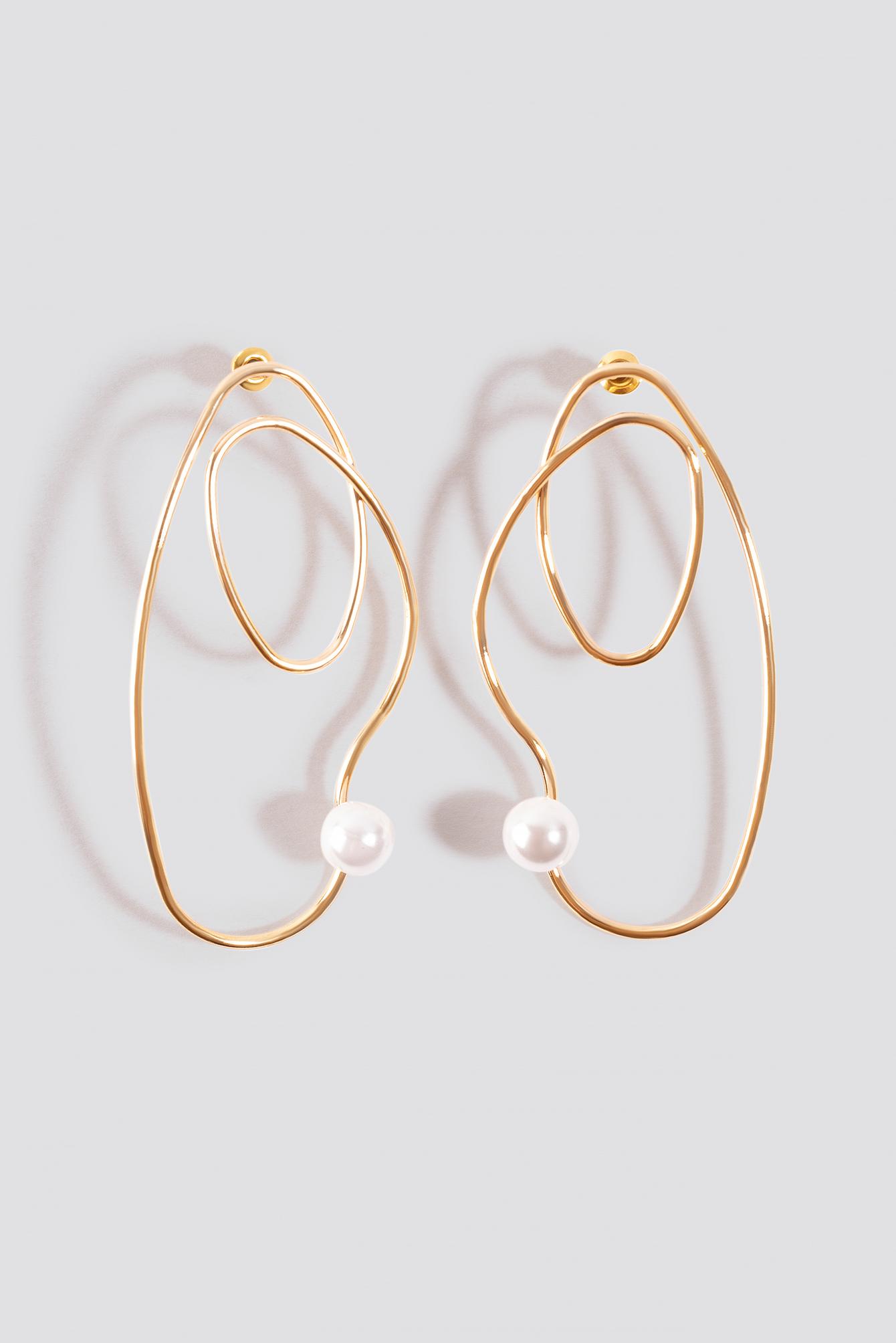 Pearl Detail Wire Earrings NA-KD.COM
