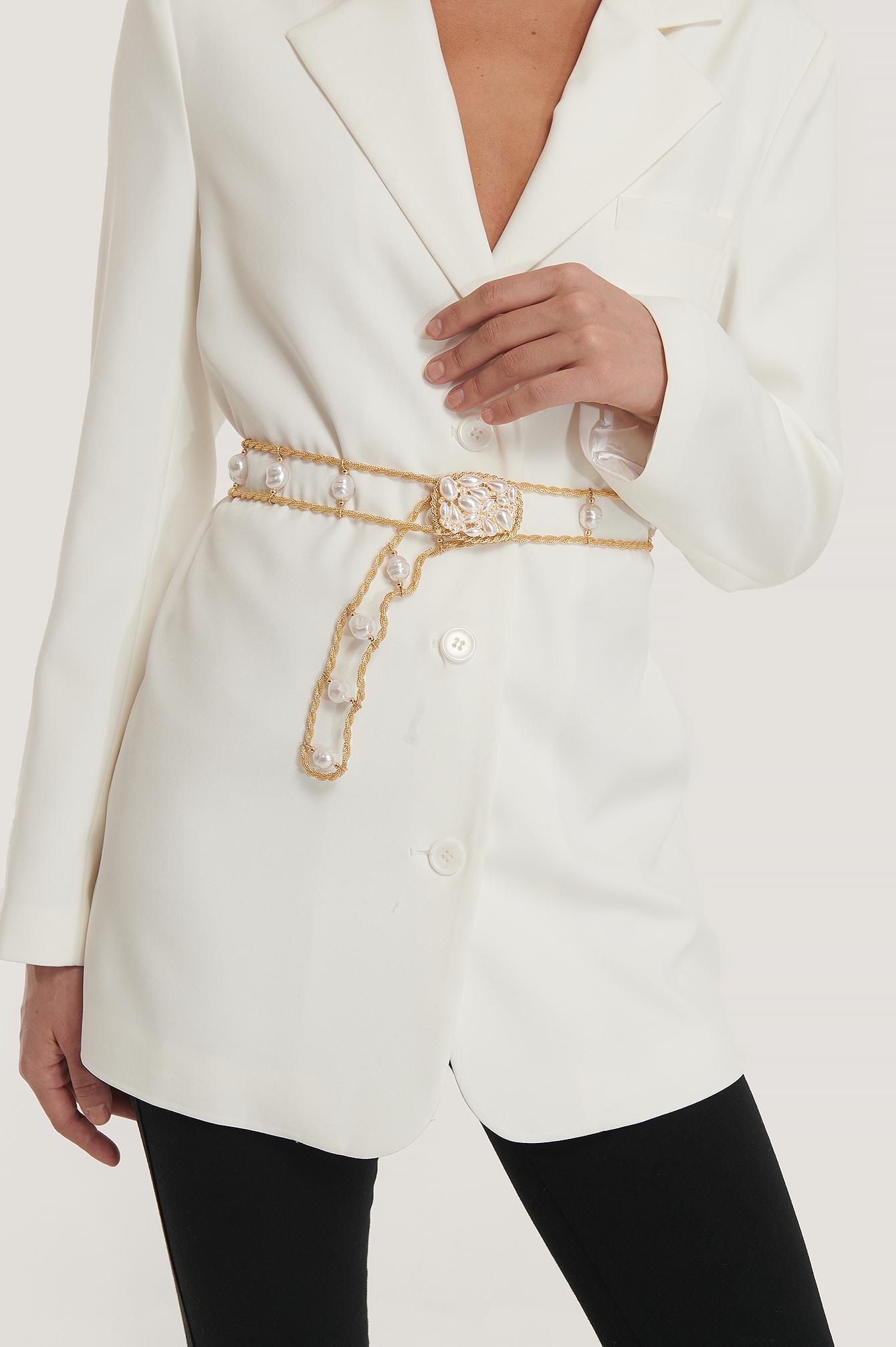 na-kd accessories -  Perlenkettengürtel - Gold