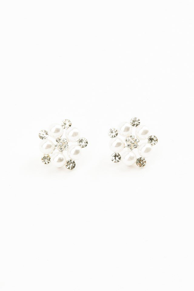 Pearl Dotted Earring Silver