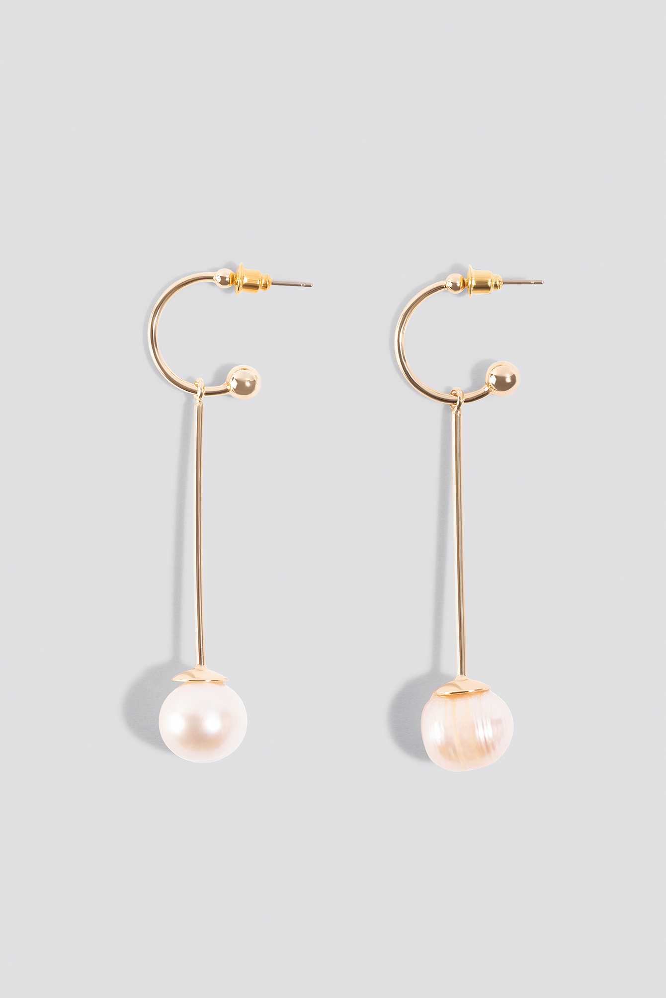Pearl Drop Mini Hoop Earrings NA-KD.COM