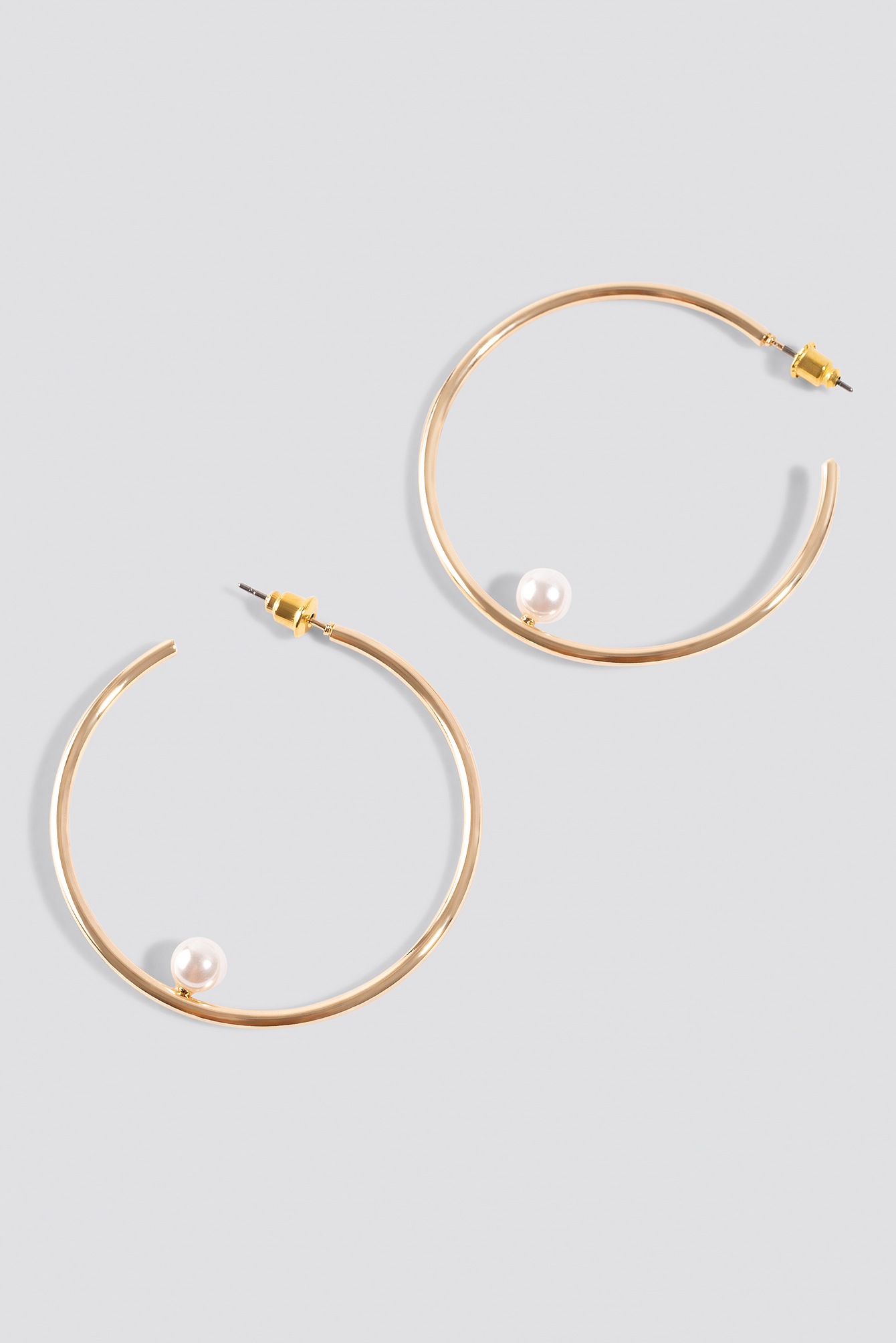 Pearl In Hoop Earrings NA-KD.COM