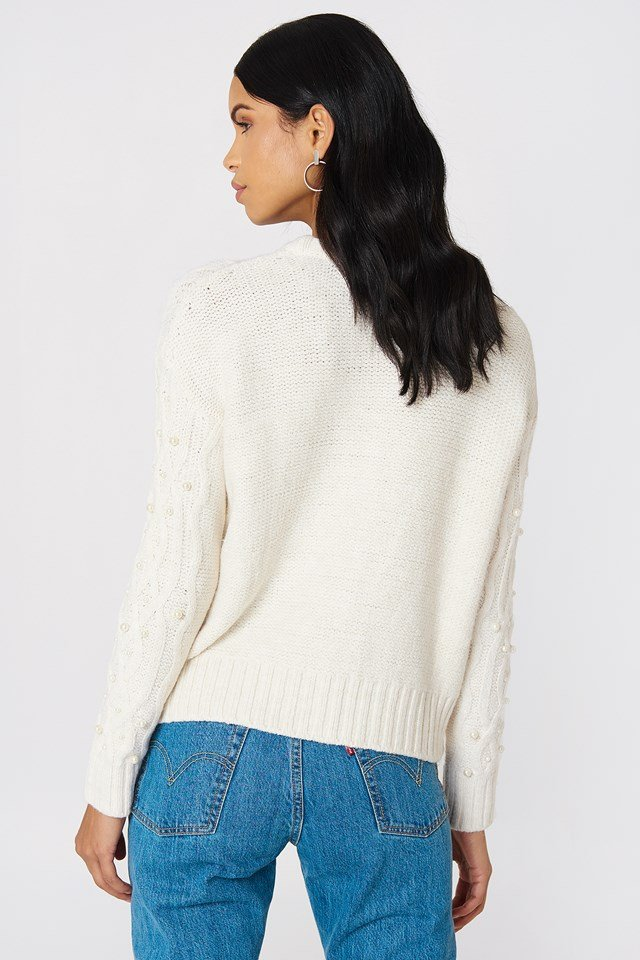 Pearl Knitted Sweater Offwhite