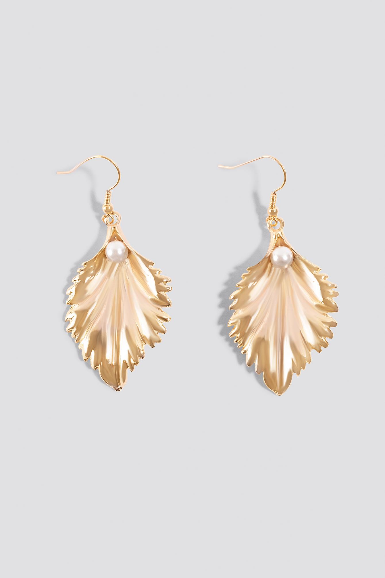 Pearl Leaf Earrings NA-KD.COM