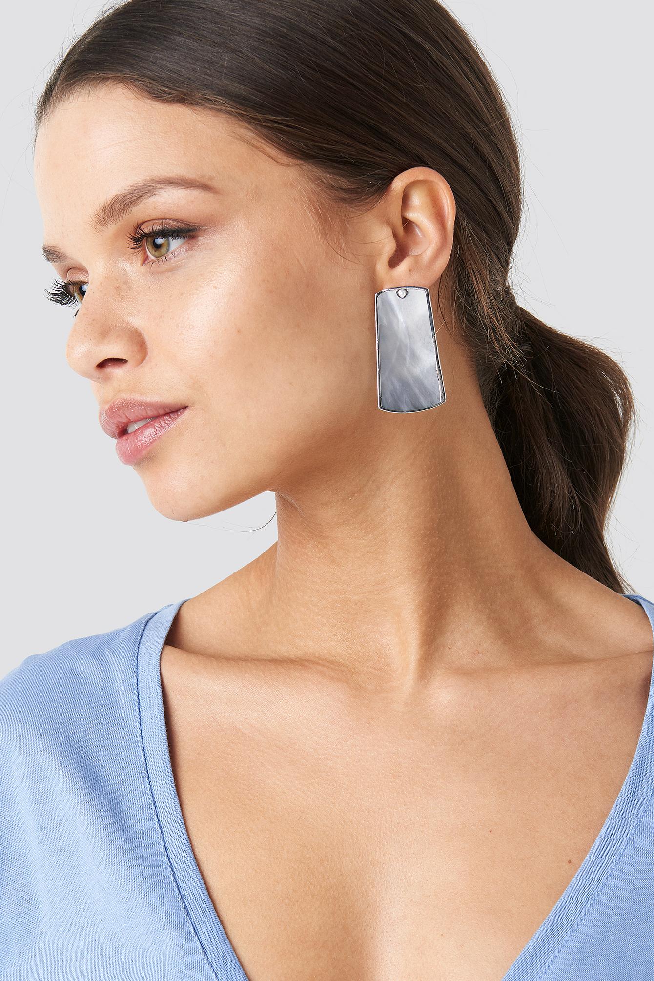Pearl Rectangle Earrings NA-KD.COM