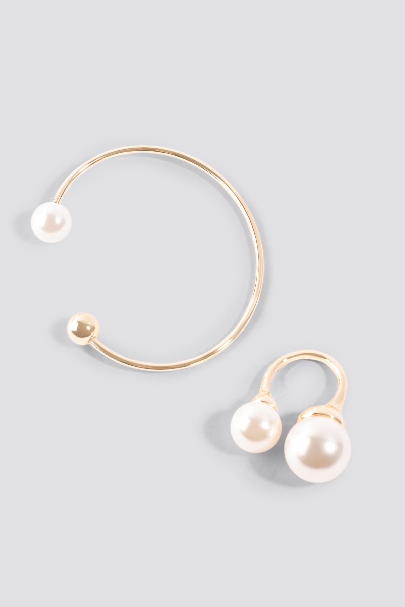 Pearl Ring And Bracelet Set NA-KD.COM