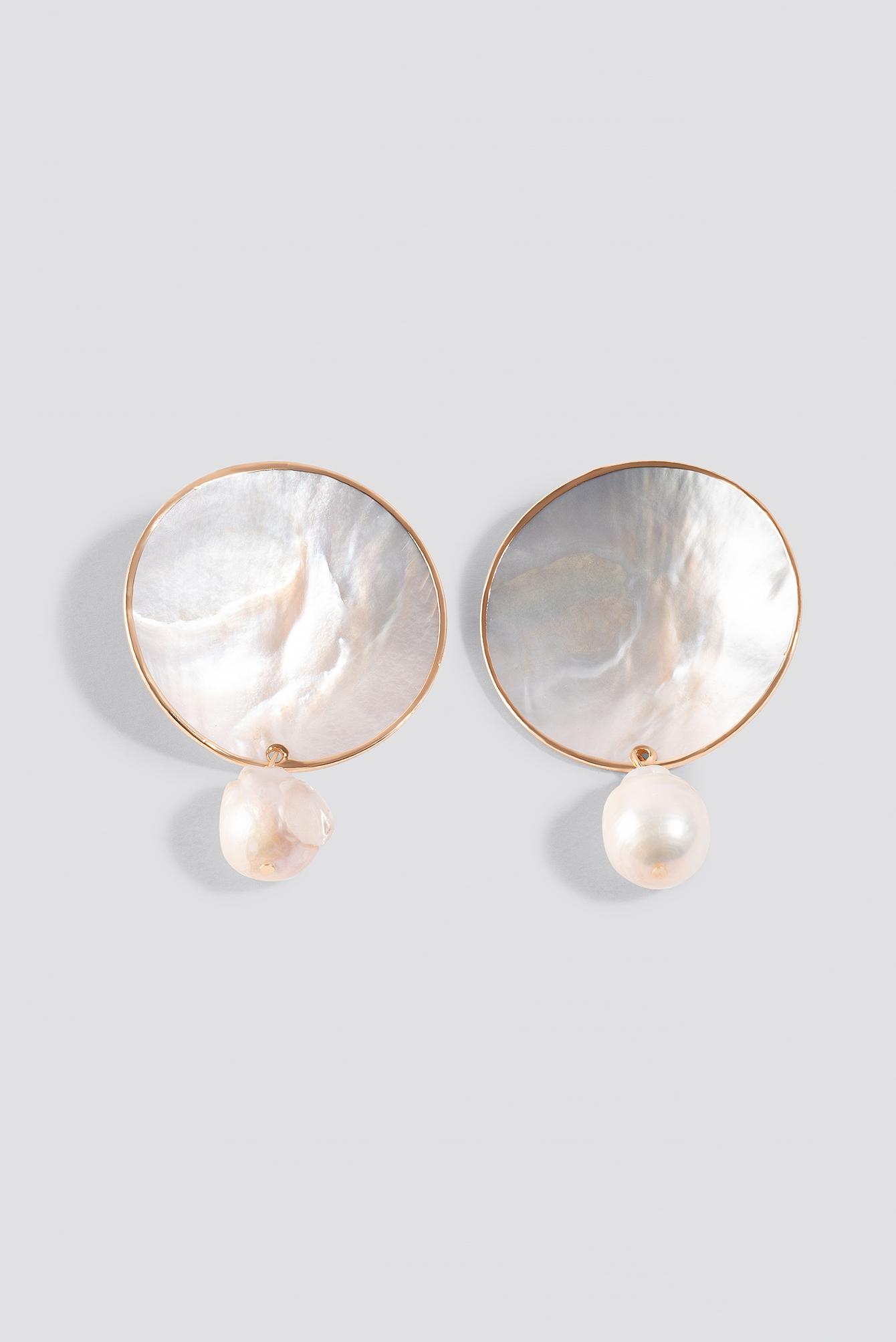 Pearl Round Earrings NA-KD.COM