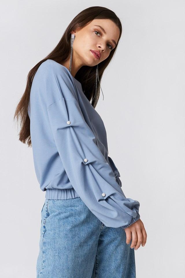 Pearl Sleeve Detail Sweater NA-KD.COM