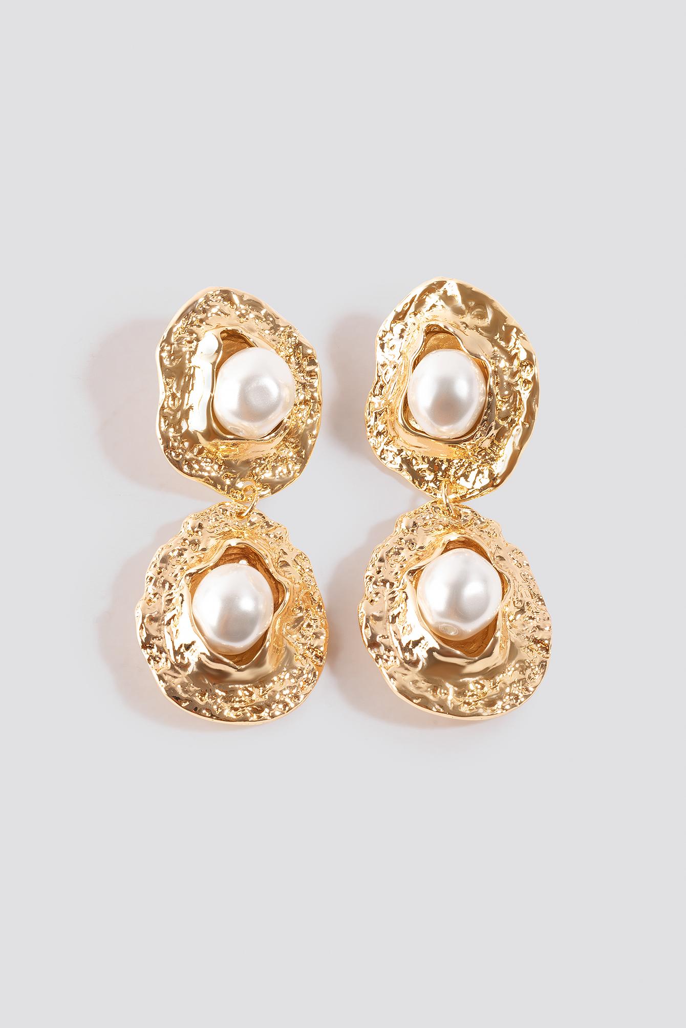 Pearl Textured Drop Earrings NA-KD.COM