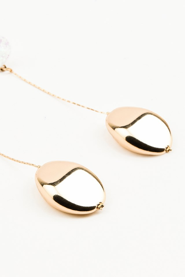 Pearl With Hanging Drop Earring Gold
