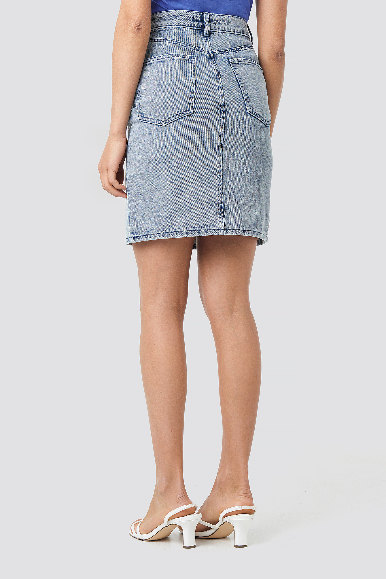 Pencil Denim Mini Skirt NA-KD.COM