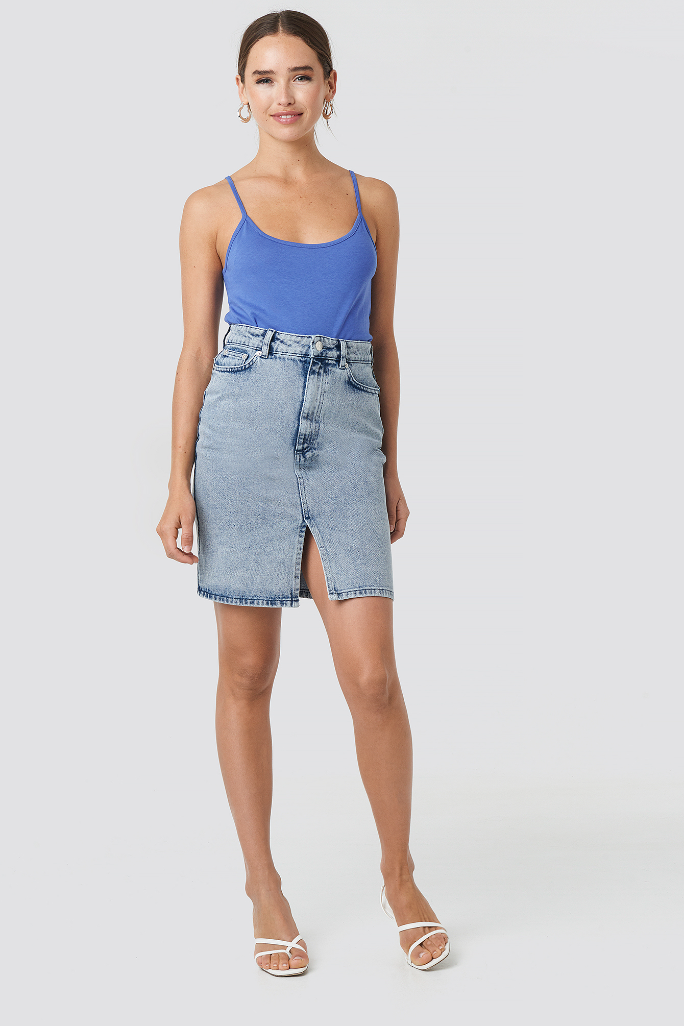 Pencil Denim Mini Skirt NA-KD.COM