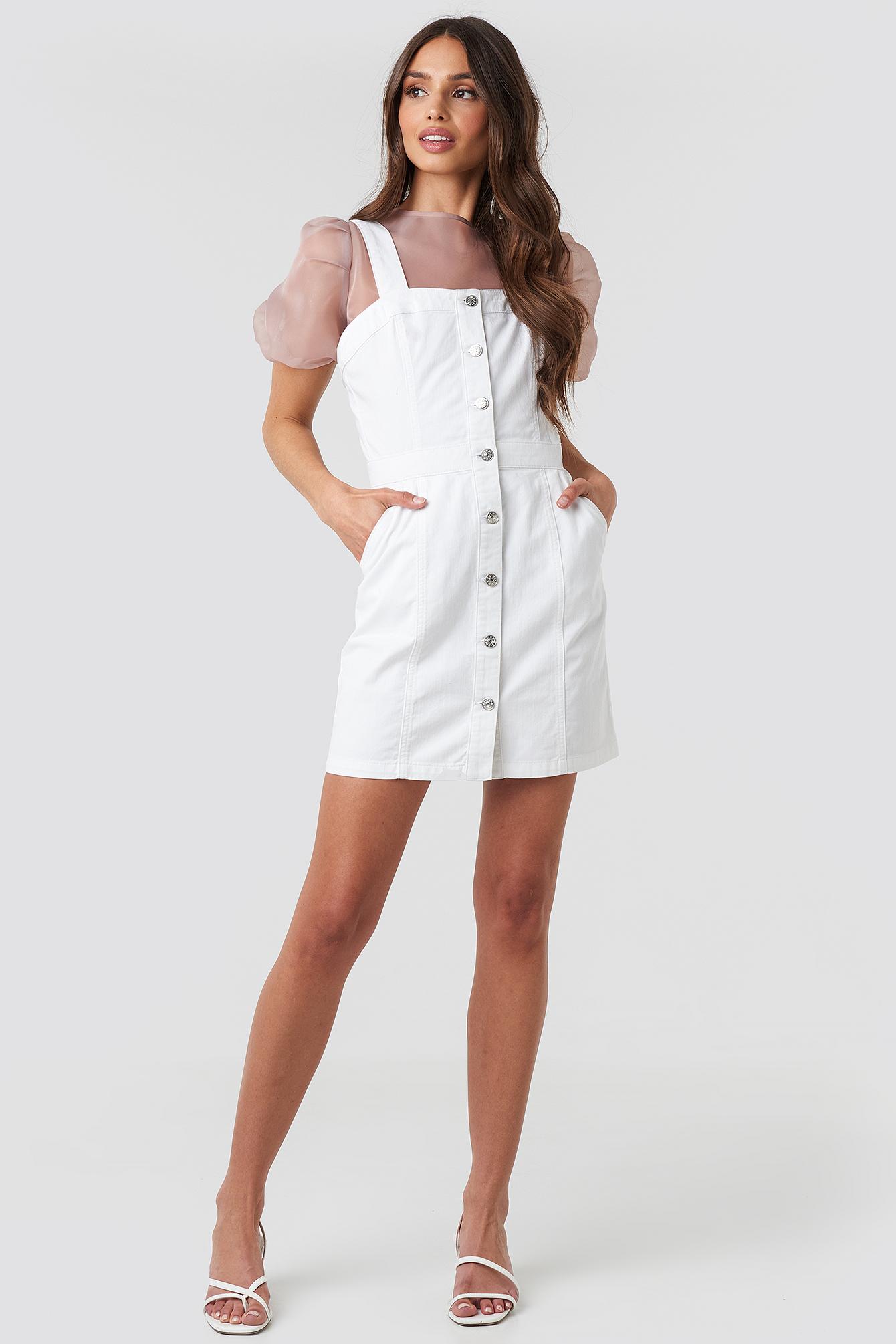 Pinafore Mini Denim Dress NA-KD.COM