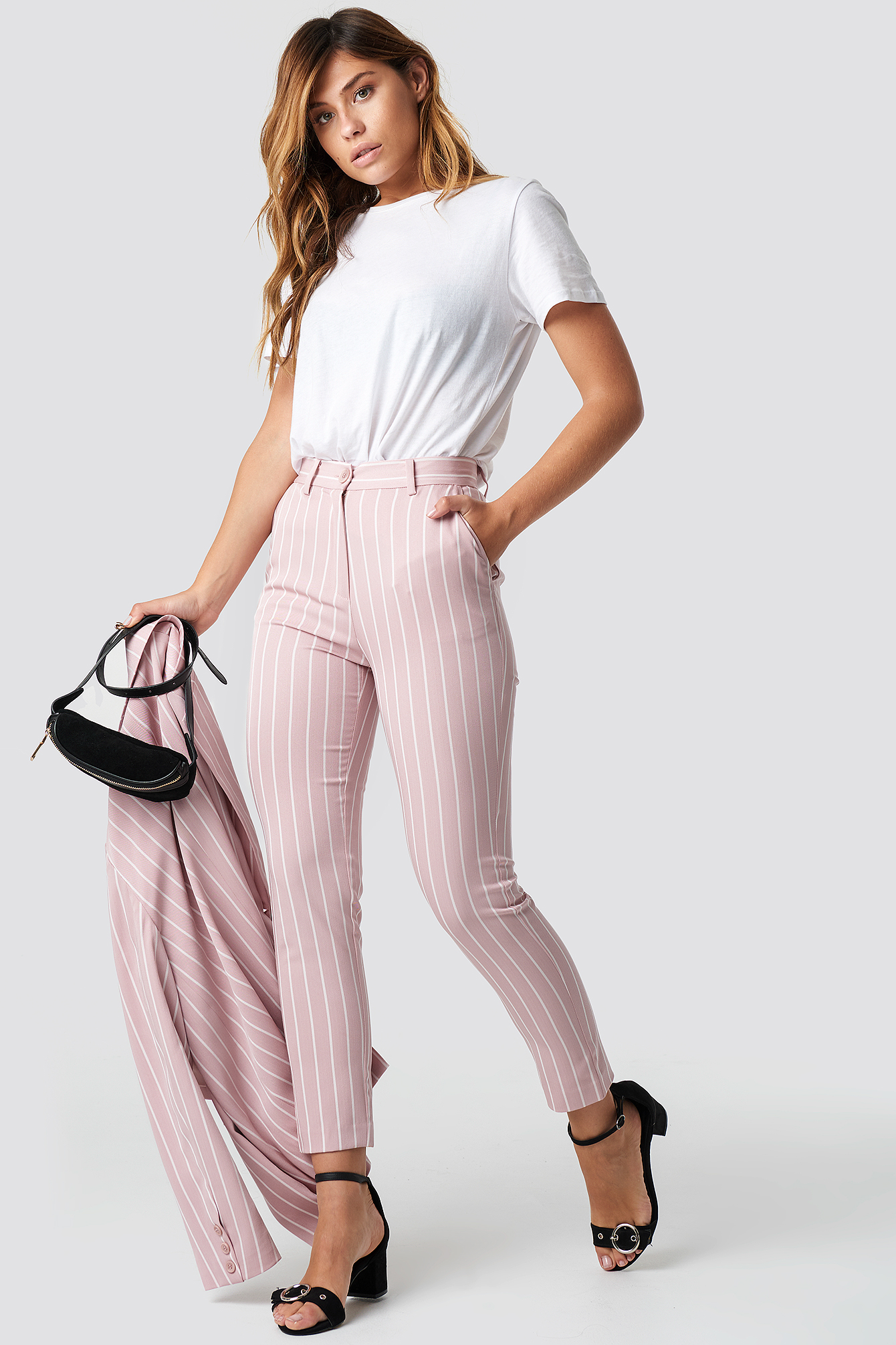 Pink Striped Suit Pants NA-KD.COM