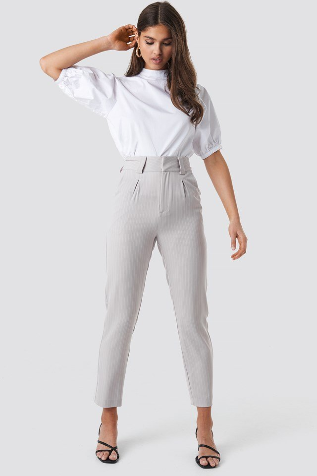 Pinstriped Cigarette Pants NA-KD Classic