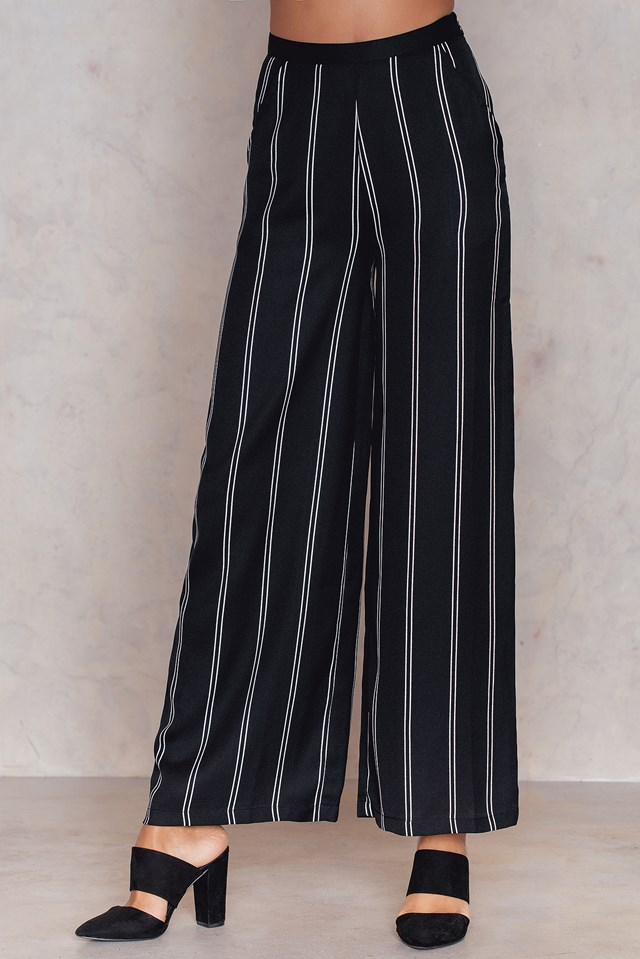 Pinstriped Flared Pants Pinstripe