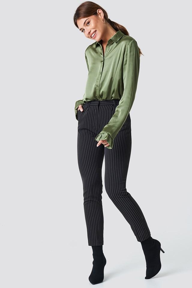 Pinstriped Suit Pants NA-KD.COM