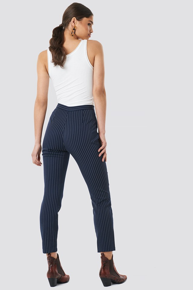 Pinstriped Suit Pants Navy