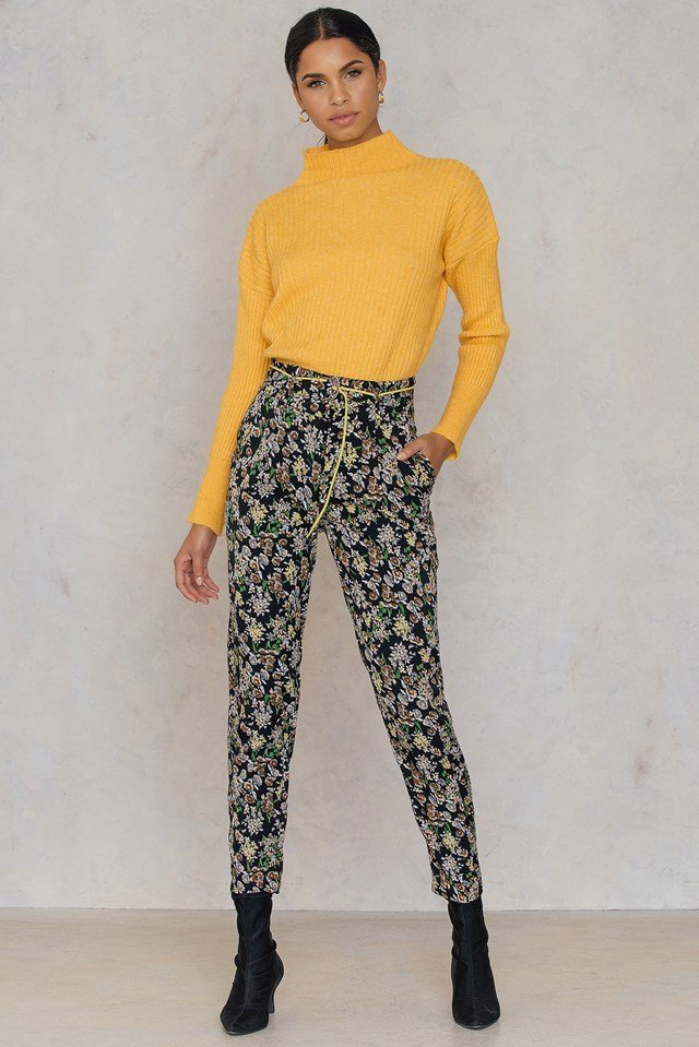 Piping Pants Flower