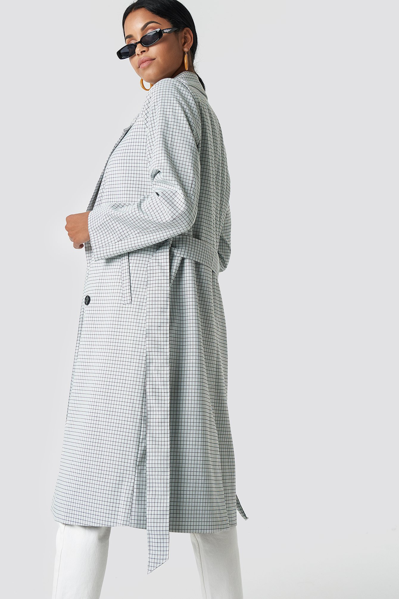 Plaid Long Coat NA-KD.COM