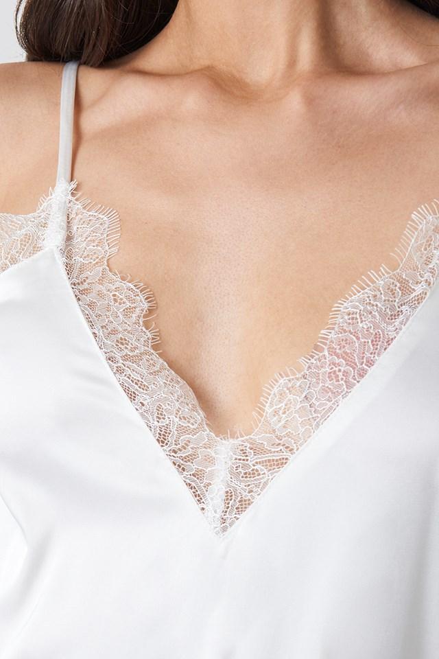 Plain Lace Singlet White
