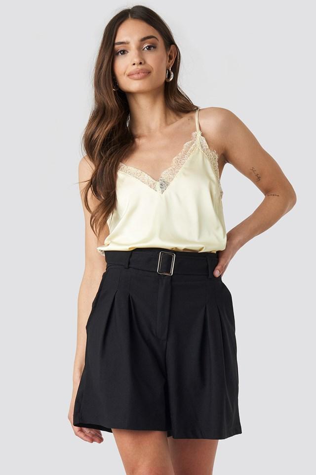 Plain Lace Singlet NA-KD.COM