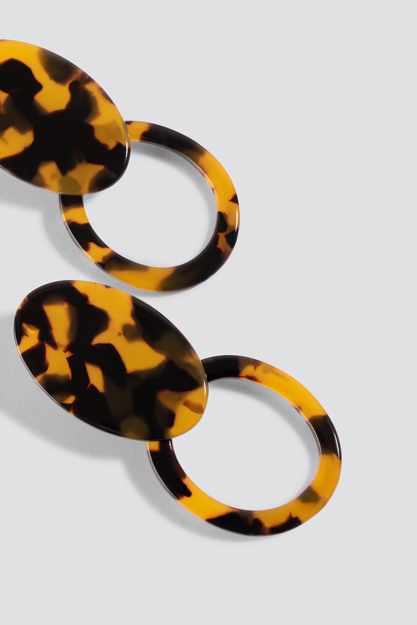 Plate Hoop Tortoise Earrings NA-KD.COM
