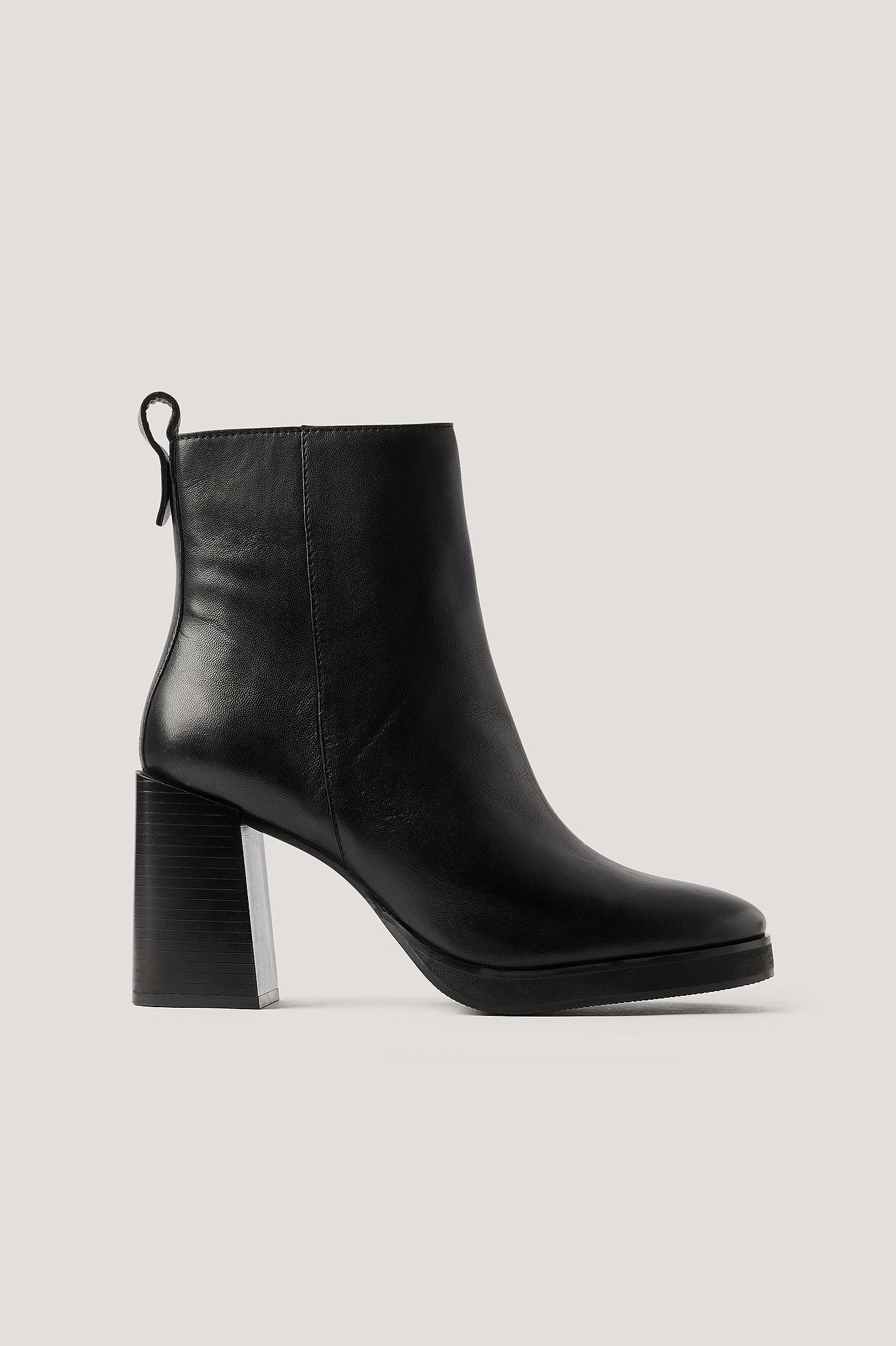 NA-KD Shoes Nahkasaappaat Platform-Pohjalla - Black