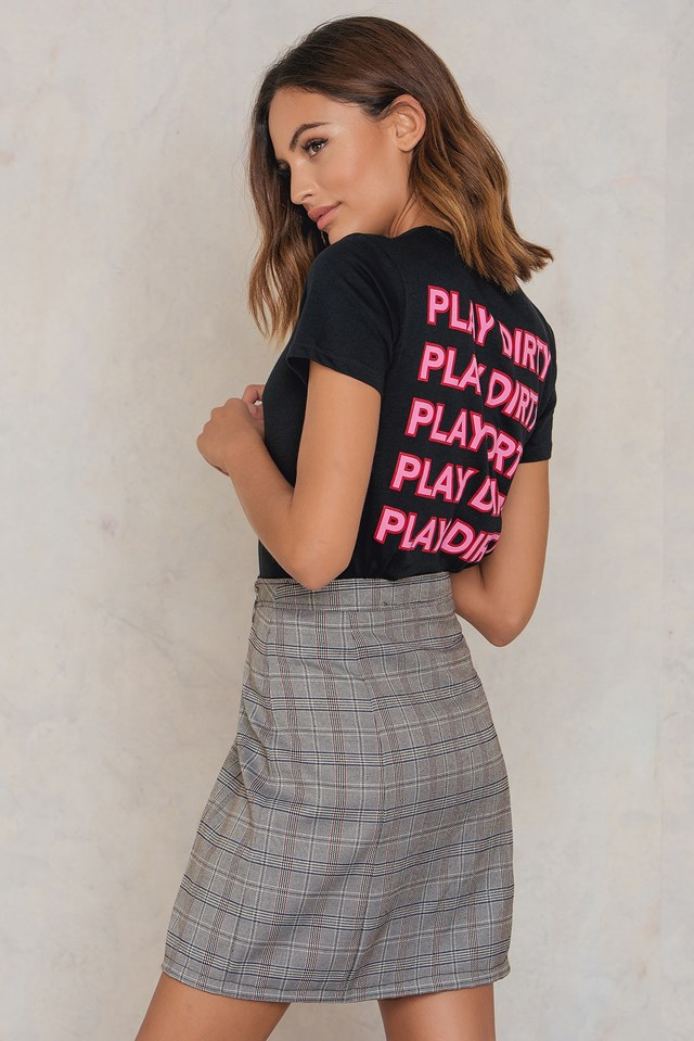 Play Dirty Tee Black