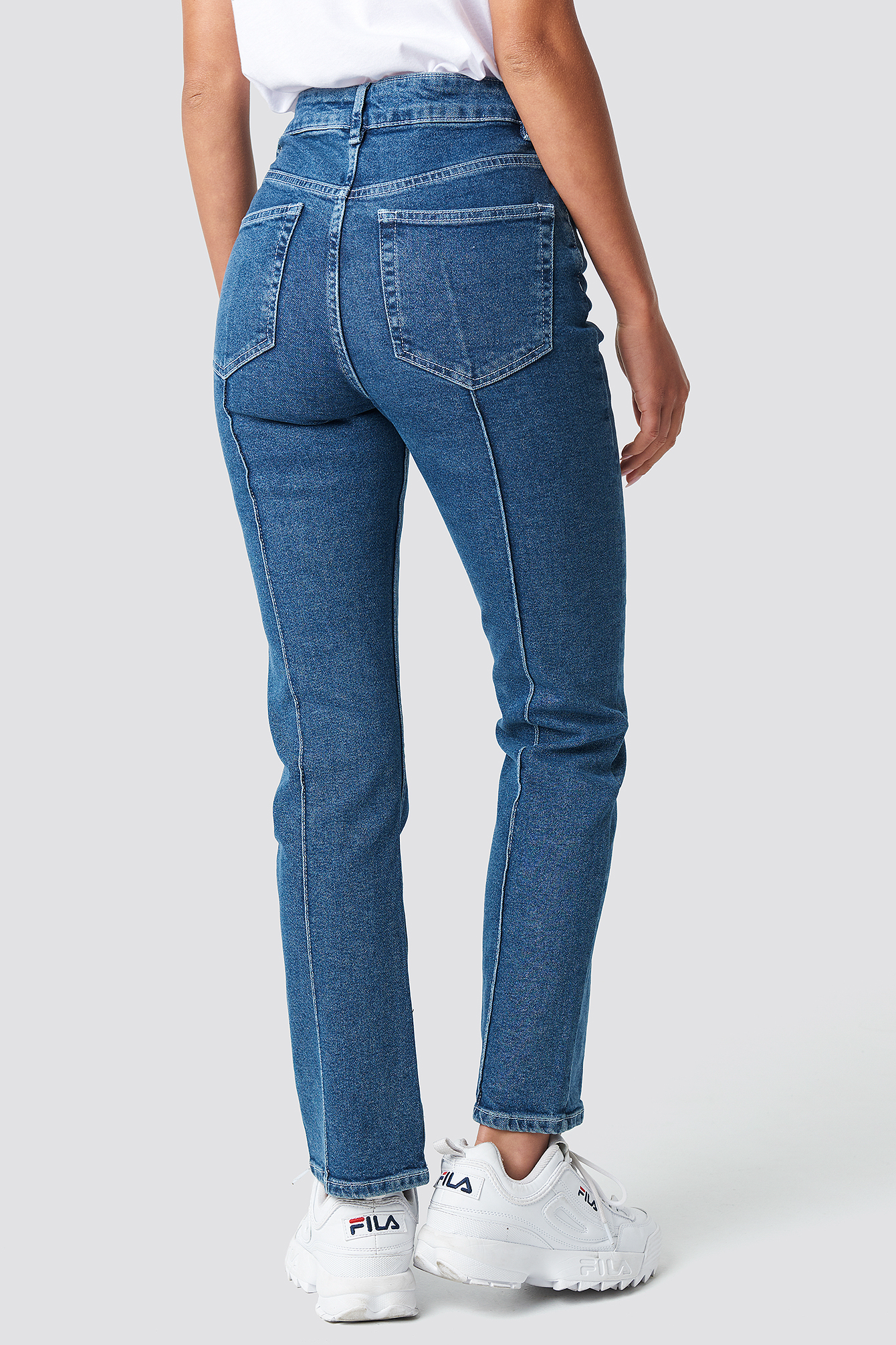 Pleat Detail Jeans NA-KD.COM